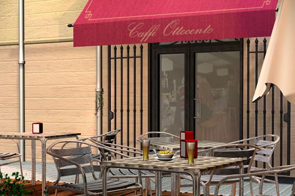 Ilustración 3D - Caffe Ottocento