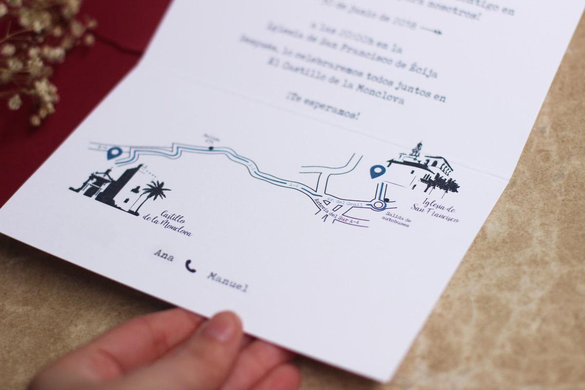 Diseño Editorial - Invitación de Boda Campestre