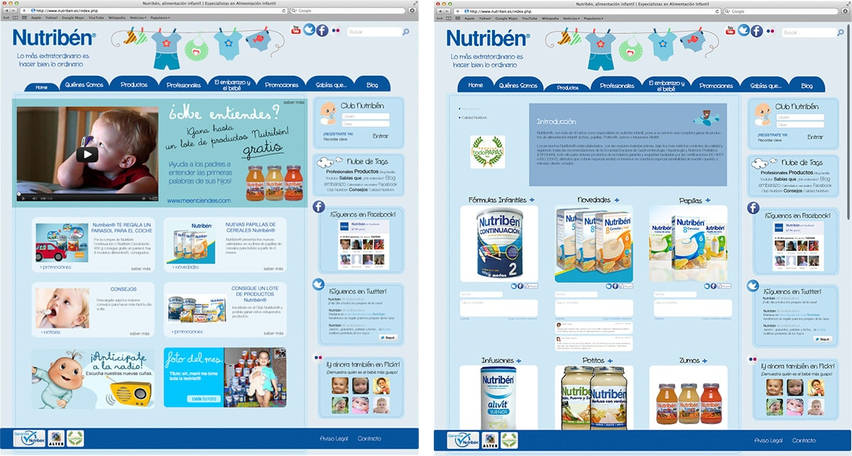 Diseño web - Nutribén 2.0