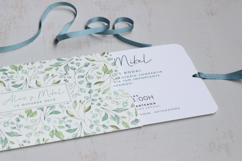 Diseño Editorial - Invitación de Boda Sobre